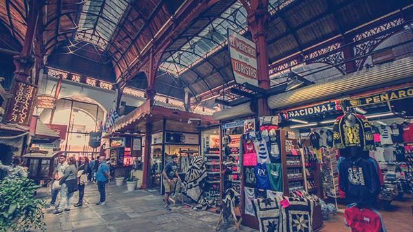 Mercado de Montevidéu, Uruguai.