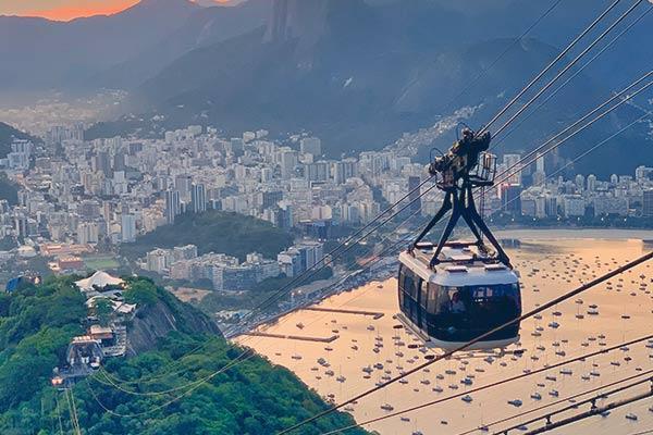 Bondinho, no Rio de Janeiro