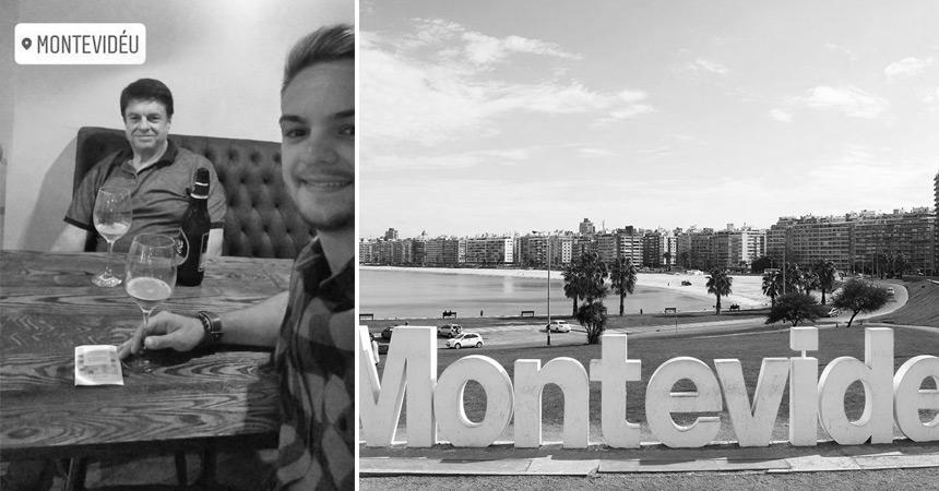 Meu pai, eu e aquela cervejinha em Montevidéu