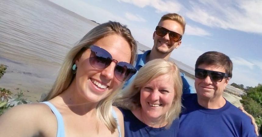 Minha família curtindo o Uruguai