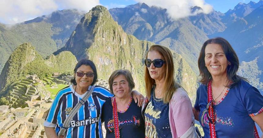 Companheiras em Machu Picchu