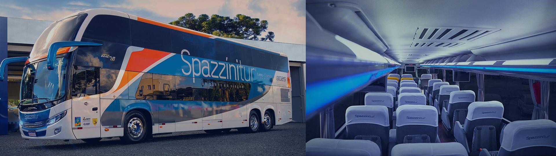 Ônibus interno e externo Spazzini