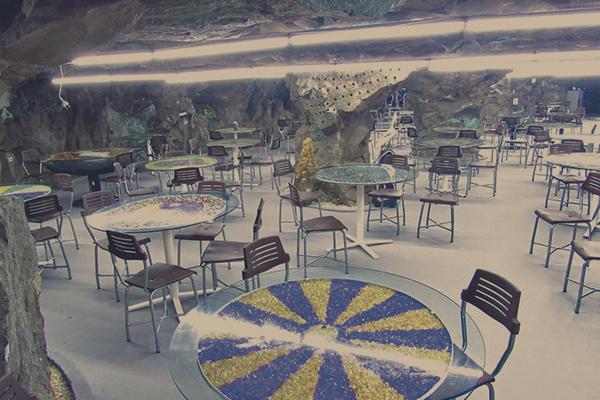 Restaurante subterrâneo - Ametista do Sul